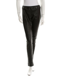 The Row Leather Straight Leg Pants