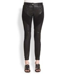 Givenchy Leather Suede Leggings