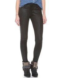 Joe's Jeans Leather Tux Skinny Ankle Pants
