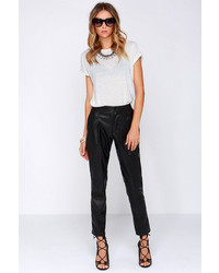 LuLu*s Pleather Permitting Black Vegan Leather Pants
