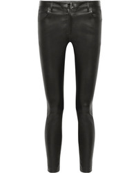 The Row Maddly Leather Skinny Pants Black