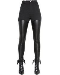 Givenchy Nappa Leather Cotton Drill Pants
