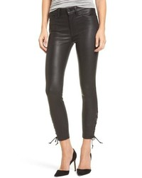 Hudson Jeans Nix High Waist Leather Skinny Pants