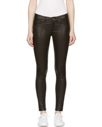 Rag & Bone Rag And Bone Black Skinny Leather Pants