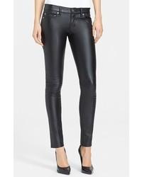 Saint Laurent Faux Leather Skinny Pants Black Size 25 25