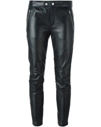 Saint Laurent Leather Biker Trousers