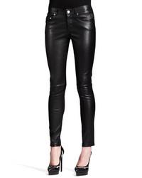 Saint Laurent Skinny Leather Ankle Pants