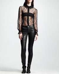 Saint Laurent Skinny Leather Pants