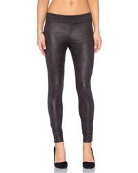 Monrow Soft Leather Half Half Legging
