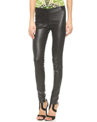 Zip front leather leggings medium 312662