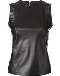 2 leather sleeveless top medium 48453