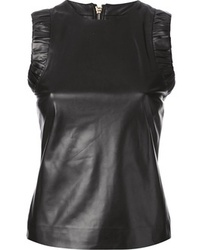 DSquared 2 Leather Sleeveless Top