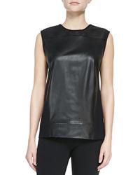 Ink leatherknit sleeveless top medium 48456
