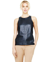 Leigh leather silk top medium 48438