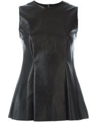 Mm6 maison margiela fake leather sleeveless top medium 690511
