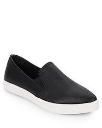 Steve Madden Almond Toe Faux Leather Slip One Sneakers