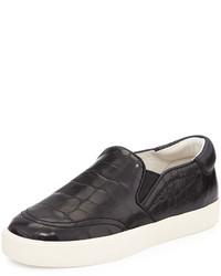 Ash Impuls Leather Skate Sneaker Black