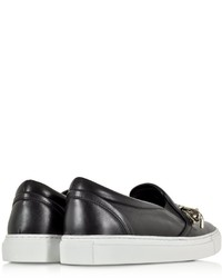 Dsquared2 Babe Wire Black Leather Slip On Sneaker