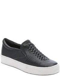 Belle by Sigerson Morrison Black Leather Sarasi Slip On Sneakers