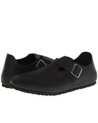 Birkenstock London Slip On Shoes Black Oiled Leather