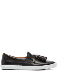 Jimmy Choo Black Leather Dale Slip On Sneakers
