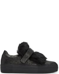 Moncler Black Lucie Slip On Sneakers
