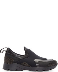 MM6 MAISON MARGIELA Black Neoprene Slip On Sneakers