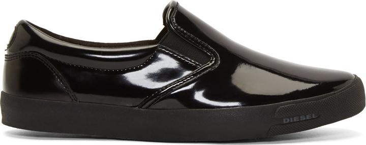 Diesel Black Patent Leather Subways