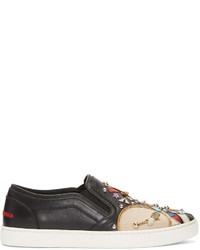 Dolce & Gabbana Black Soldier Slip On Sneakers