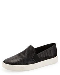 Vince Blair Perforated Slip On Sneaker Black