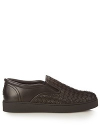 Bottega Veneta Intrecciato Slip On Leather Trainers