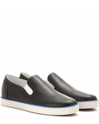 Bottega Veneta Leather Slip On Sneakers