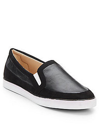Nine West Brodie Leather Suede Slip On Sneakers