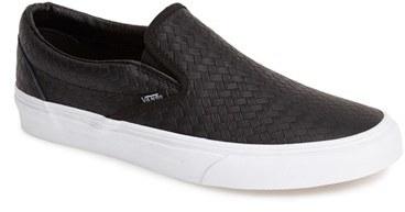 1f5ce50aaa54 Vans Classic Leather Slip On Sneaker