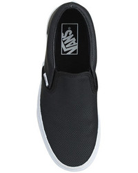1002bf9ec1 ... Vans Classic Slip On Sneakers In Perforated Leather