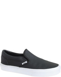 Vans Classic Slip On Sneakers In Perforated Leather