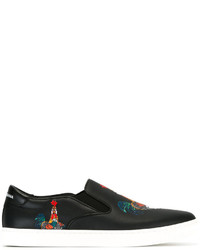 Dolce & Gabbana Cockerel Slip On Sneakers