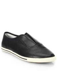 Marc by Marc Jacobs Codie Perforated Leather Slip On Sneakers