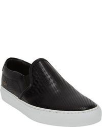 Common Projects Perforated Slip On Sneakers Black