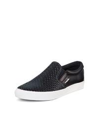 DKNY Beth Woven Leather Sneaker