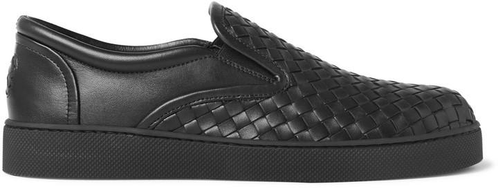 5ba6e7d9944c ... Bottega Veneta Dodger Intrecciato Leather Slip On Sneakers ...