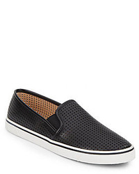 Dolce Vita Gibsin Perforated Faux Leather Slip On Sneakers