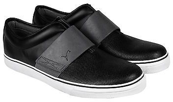 d1ba24ed09c ... Puma El Rey Cross Perf L Black Gray Leather Slip On Sneakers Shoes ...
