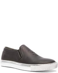 Alexander McQueen Embossed Slip On Leather Sneakers