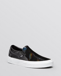Vans Flat Slip On Sneakers Patent Leather