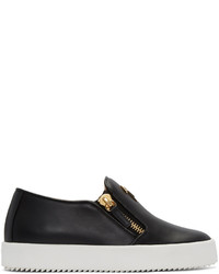 Giuseppe Zanotti Black London Slip On Sneakers