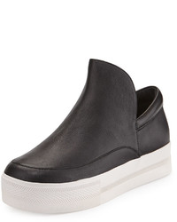 Ash Jack Leather Slip On Sneaker Black