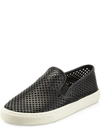 Tory Burch Jesse Perforated Slip On Sneaker Black