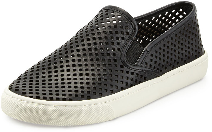d5e490a64856a ... Tory Burch Jesse Perforated Slip On Sneaker Black ...