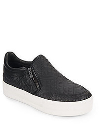 Ash Jig Embossed Leather Slip On Sneakers